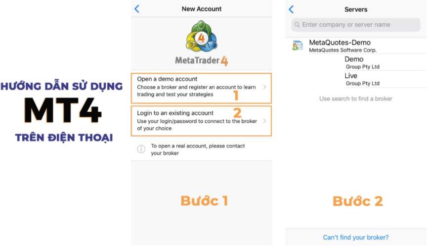 Hướng dẫn sử dụng phần mềm Meta Trader 4 trên điện thoại